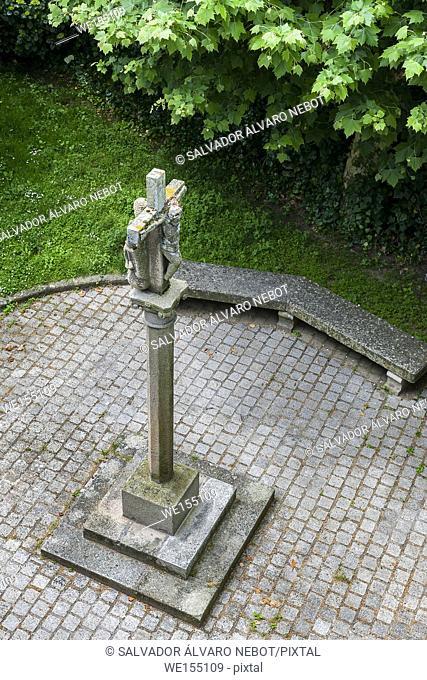 Cruceiro in the Park Do Castro, Vigo, Pontevedra, Spain, Europe