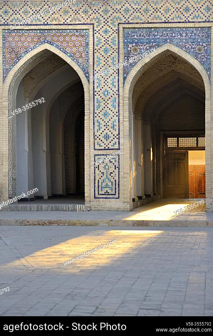 Uzbekistan, Unesco World Heritage Site, Bukhara, Kalon mosque, The courtyard at sunset