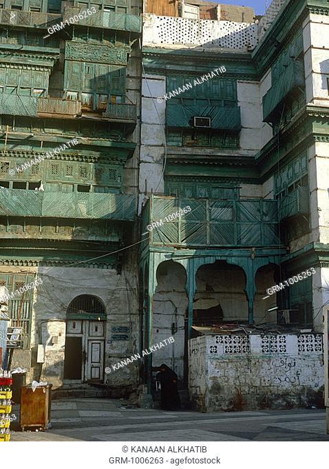 Traditional Hijazi architecture in Jeddah, Saudi Arabia