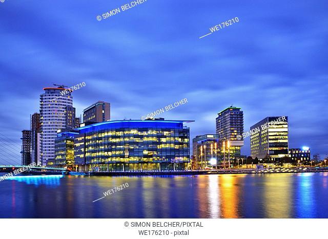 Media City, Salford Quays, Manchester, England, United Kingdom