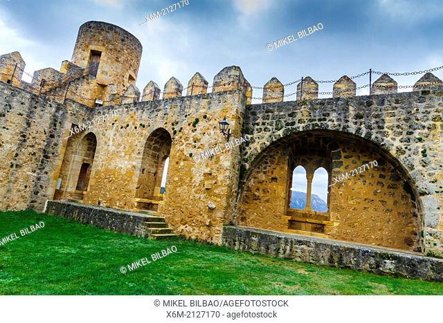 Castle. Frias, Burgos, Castile and Leon. Spain, Europe