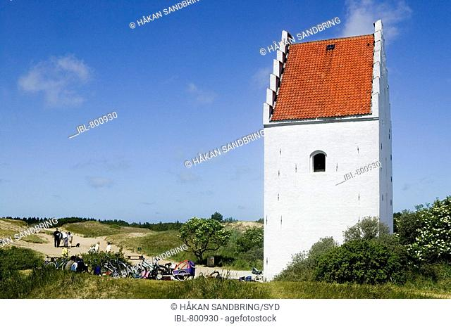 Church lie buried in sand, Jutland, Denmark