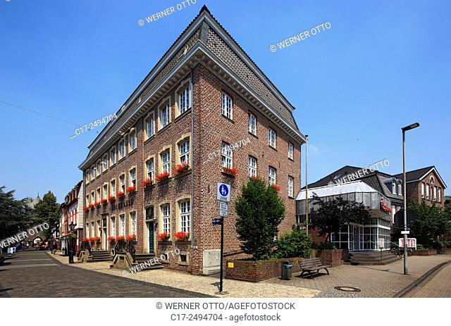 Germany, Kempen, Niers, Lower Rhine, Rhineland, North Rhine-Westphalia, NRW, Horten House of merchant Heinrich Horten, town house, brick building, banking house