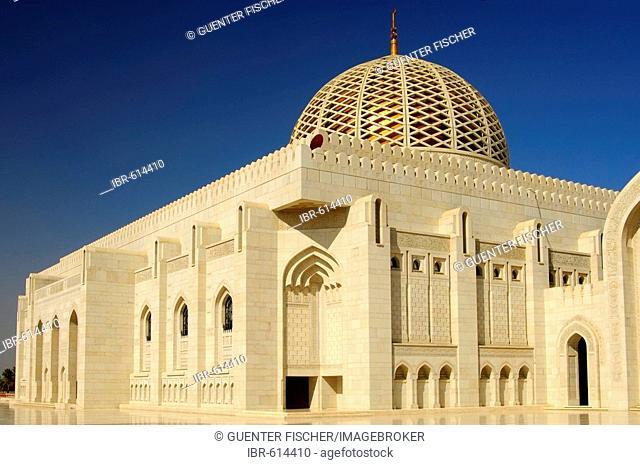 Principal dome, Sultan Qaboos Mosque, Muscat, Sultanate of Oman