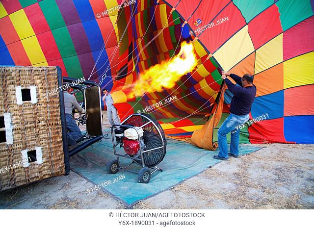 hot air balloon blow-up