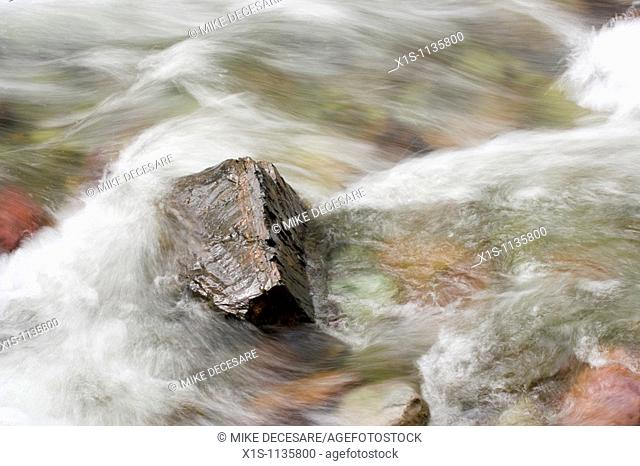 Mountain fed stream of crystal clear water