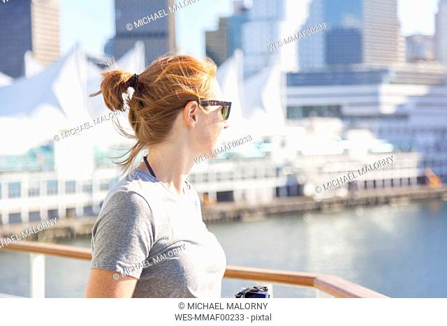 Canada, British Columbia, Vancouver, female tourist
