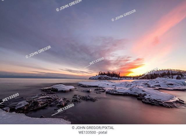 Winter At Split Rock State Park, Minnesota, Lake Superior