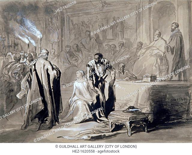 'Othello and Desdemona before the Senate', 1847. Scene from Shakespeare's Othello