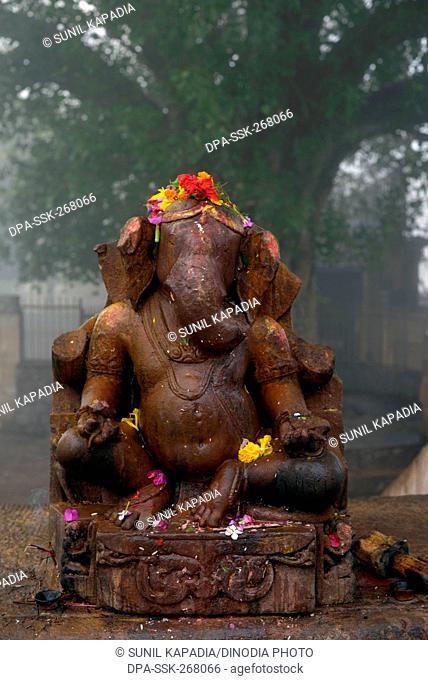 Lord Ganesha statue Matangeshwar temple, Khajuraho, Madhya Pradesh, India, Asia