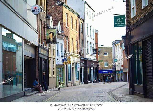 Streets of York and Old, historical architecture, North Yorkshire, England, UK
