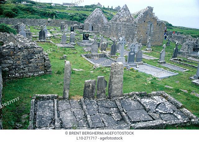 Seven Churches graveyard. Inishmore. Aran Island. Ireland