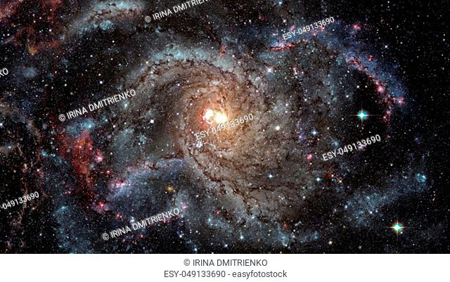 Spiral galaxy in space. Elements of this image furnished by NASA