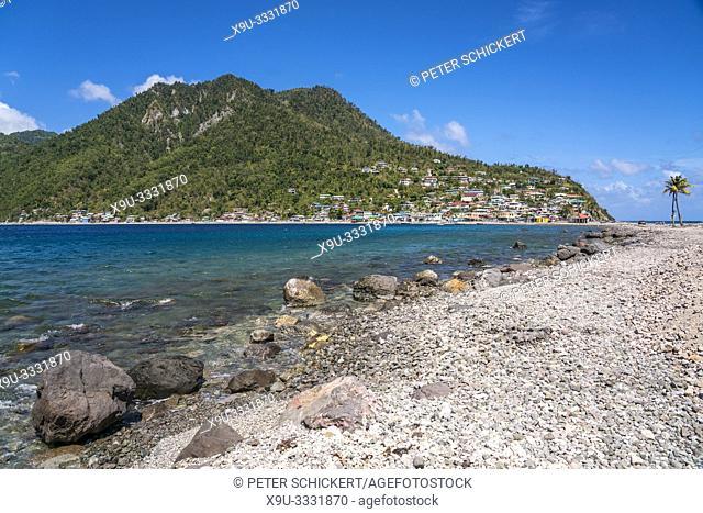 Strand am Fischerdorf Scotts Head an der Südwestküste der Insel Dominica, Karibik, Mittelamerika   Scotts Head beach on the south west coast of Dominica