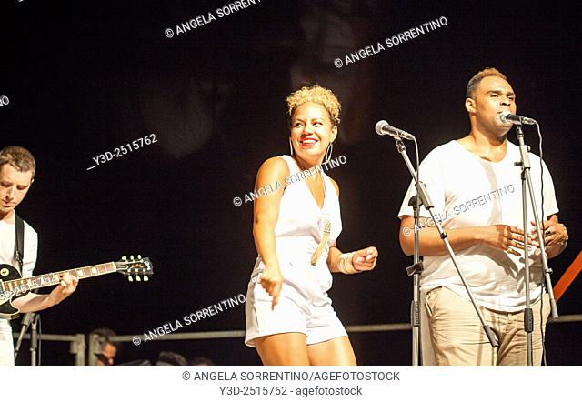 Tahirah Memory and Shawn Taylor at Pozzuoli Jazz Festival