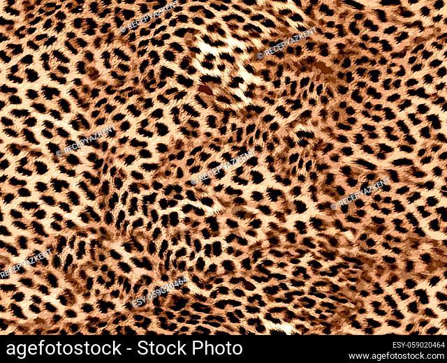 leopard seamless pattern brown color illistration texture design