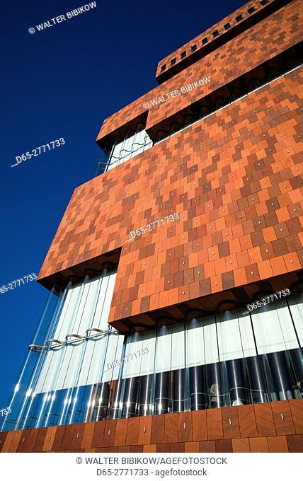 Belgium, Antwerp, MAS museum, exterior