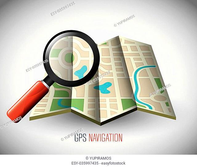 GPS navigation technology graphic design, vector illustration eps10