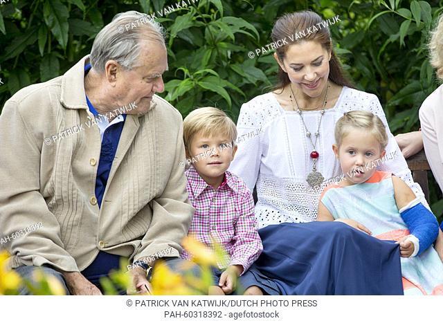 Danish Queen Margarethe, Prince Henrik, Crown Prince Frederik, Crown Princess Mary, Prince Christian, Princess Isabella, Prince Vincent, Princess Josephine