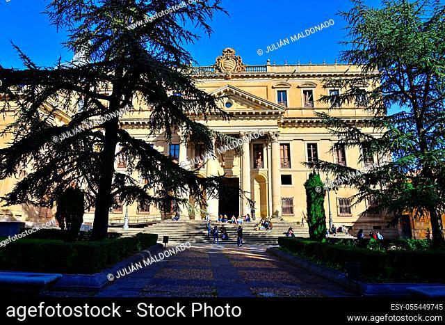 Salamanca, Spain - November 15, 2018: Palace of Anaya in the city of Salamanca