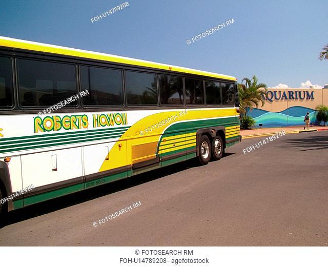 Maalaea, Maui, HI, Hawaii, Maui Ocean Center, Aquarium, Marine Center, tour bus
