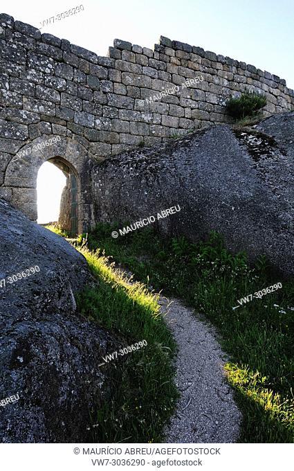 Castro Laboreiro medieval castle. Peneda Gerês National Park, Portugal