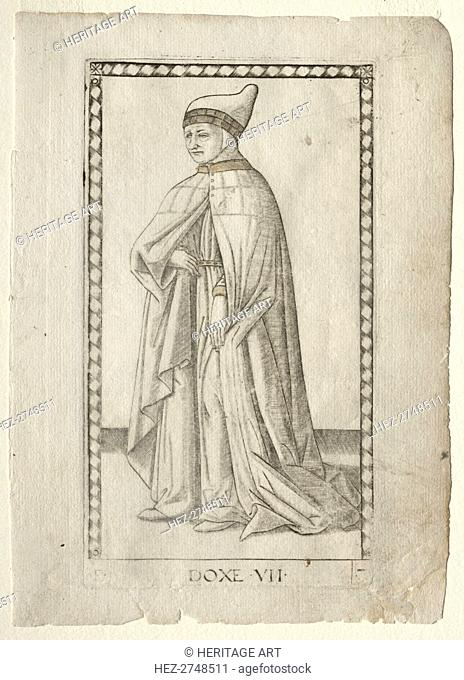 The Doge (from the Tarocchi, series E: Conditions of Man, #7) , before 1467. Creator: Master of the E-Series Tarocchi (Italian, 15th century)