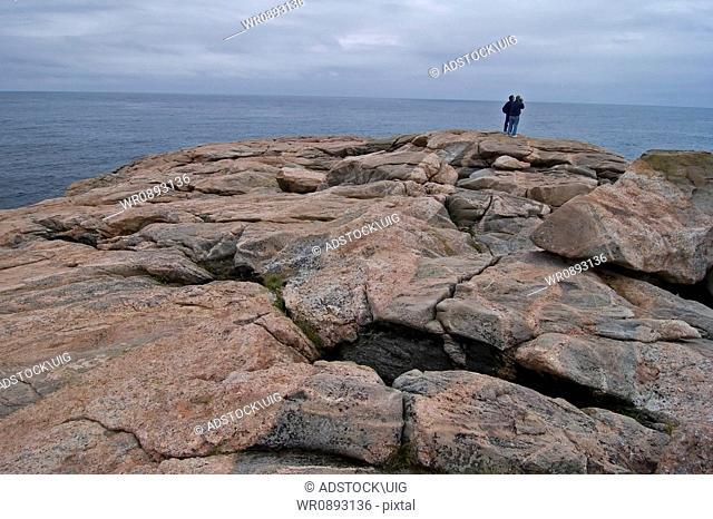 Rocky Coast, Green Cove, Cape Breton Highlands Nat Park, Nova Scotia, Canada, Weathered Granite Shore