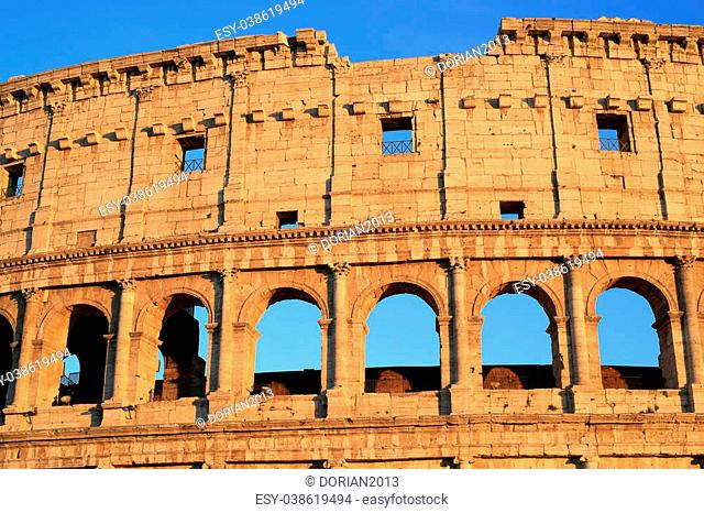 Colosseum early in the morning, Rome Italy