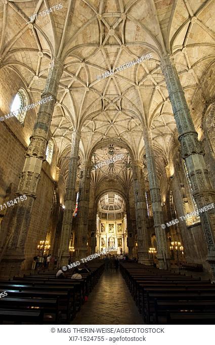 Church of Santa Maria, Mosteiro dos Jéronimos Monastery of the Hieronymites, Belem district, Lisbon, Portugal, Unesco World Heritage Site Santa Maria Kirche