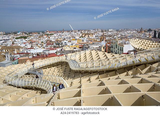 "Spain , Andalucia Region, Sevilla City , Encarnacion Square, Metropol Parasol known as """"Las Setas"""""