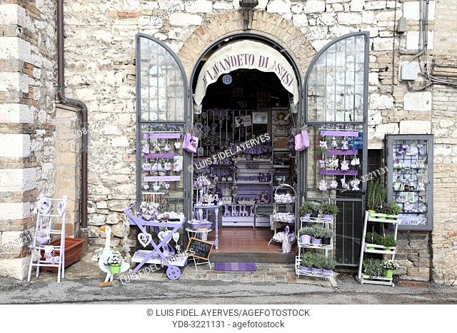 Italy, Perugia distict, Assisi, shop