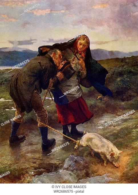 This painting, titled The Last Match, was done by the Scottish artist William Small, who was born in 1843. In 1865, Small journeyed to London to see an enlarged...