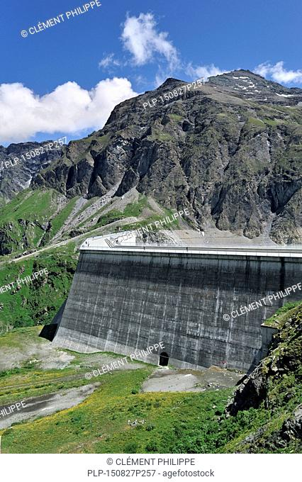 Barrage de la Grande Dixence / Grande Dixence Dam in Switzerland is the highest dam in Europe. It holds back the lake Lac des Dix