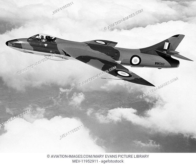 RAF Hawker Hunter F.6 Flying over Cloud