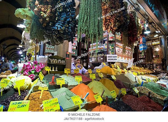 The Spice Bazaar, Sultanhamet, Istanbul, Turkey