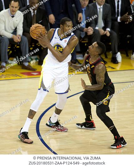 May 31, 2018 - Oakland, California, U.S - Kevin Durant #35 of the Golden State Warriors during their NBA Championship Game 1 with the Cleveland Cavaliers at...