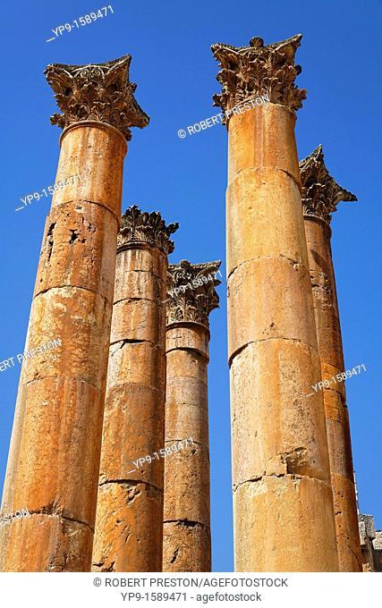 Columns at the Temple of Artemis at Gerasa, Jerash, Jordan