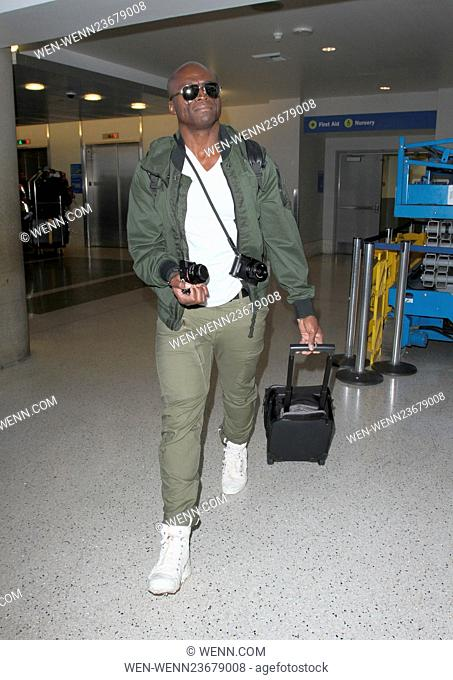 British singer-songwriter Seal arrives at Los Angeles International Airport (LAX), for a departing flight Featuring: Seal Where: Los Angeles, California