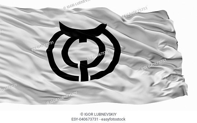 Makurazaki City Flag, Country Japan, Kagoshima Prefecture, Isolated On White Background, 3D Rendering