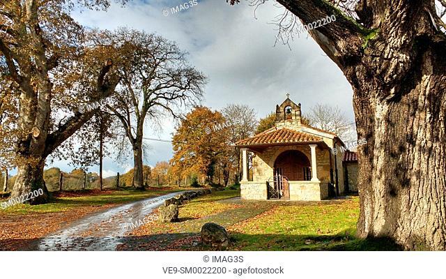 El Carmen chapel, Paraes village, Nava municipality, Asturias, Spain