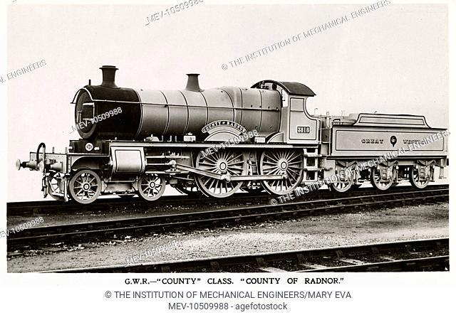 Locomotive no 3818 County of Radnor