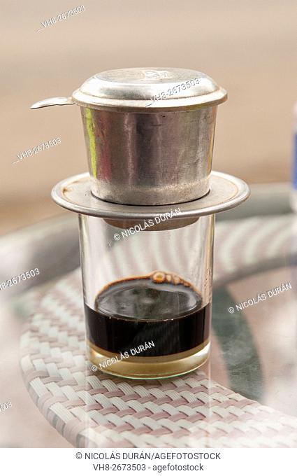 Vietnamese coffee. Hai Phog. Vietnam