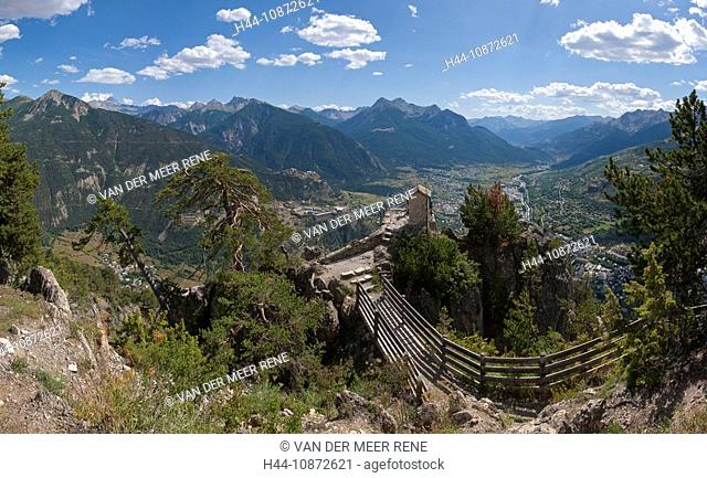 Croix de Toulouse, Briançon, Hautes-Alpes, France, Landscape, Summer, Mountains, Hills, France, Horizontal