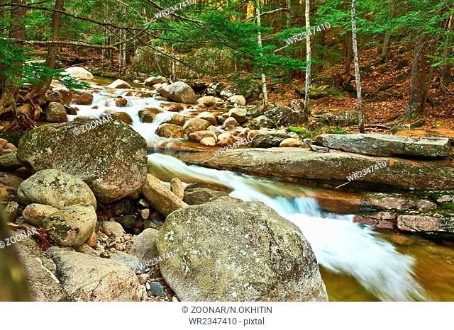 Sabbaday Falls in White Mountain National Forest