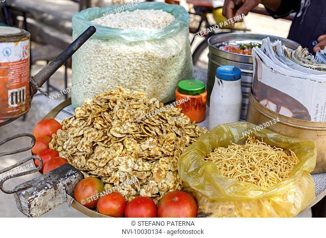 Street Snacks, Sarnath, Varanasi, Uttar Pradesh, India