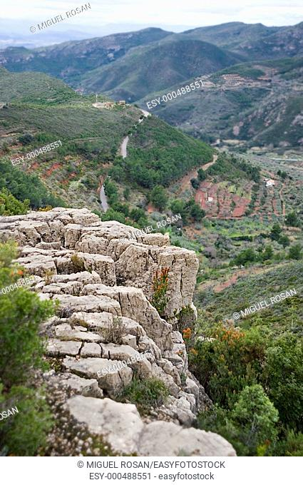 Natural and mountainous landscape in the municipality of Gátova. Comunidad Valenciana. Spain