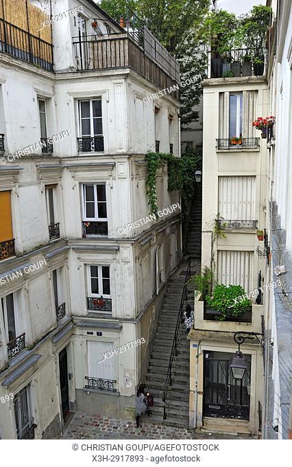 Passage Cottin, Montmartre, Paris, France, Europe
