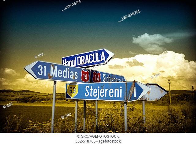 National road 14 Medias-Sighisoara, Transilvania, Rumania