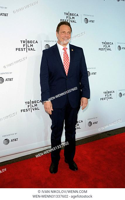 2017 Tribeca Film Festival - 'Clive Davis: The Soundtrack Of Our Lives' premiere at Radio City Hall - Red Carpet Arrivals Featuring: Andrew Cuomo Where: New...